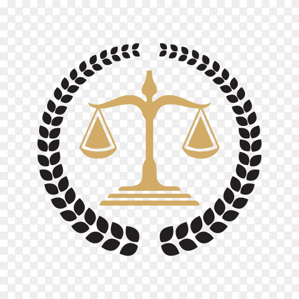 Law Firm Logo Template on transparent background PNG