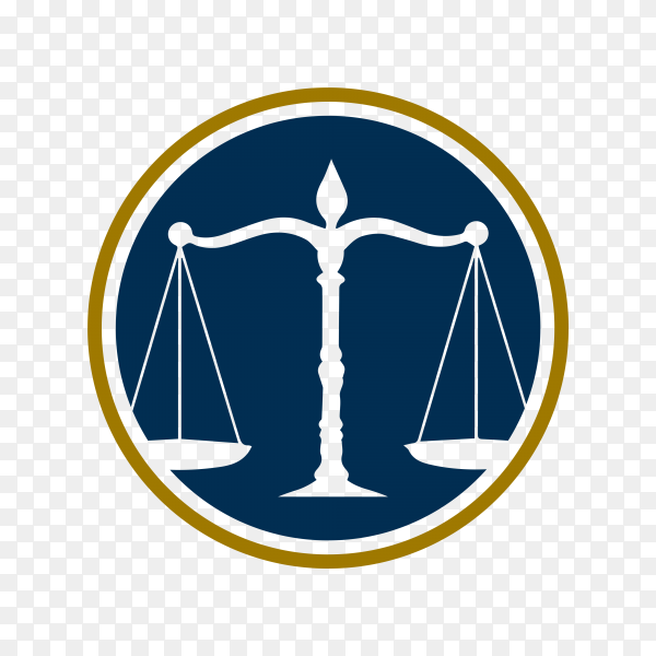 Law Firm Logo on transparent background PNG