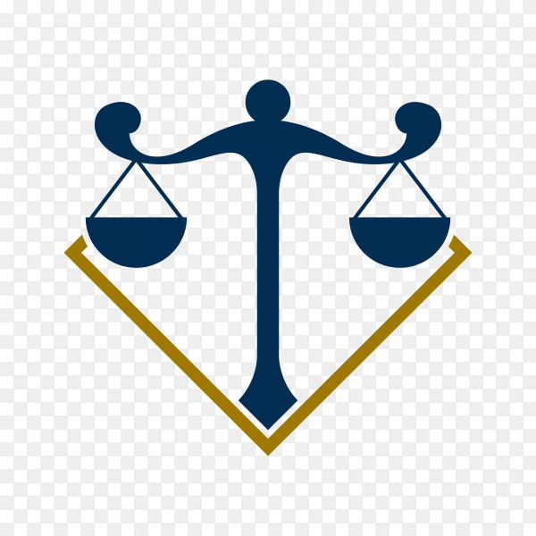 Law Firm logo and icon design on transparent background PNG