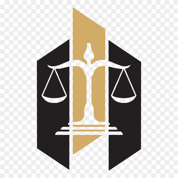 Law Firm logo and icon design template on transparent background PNG