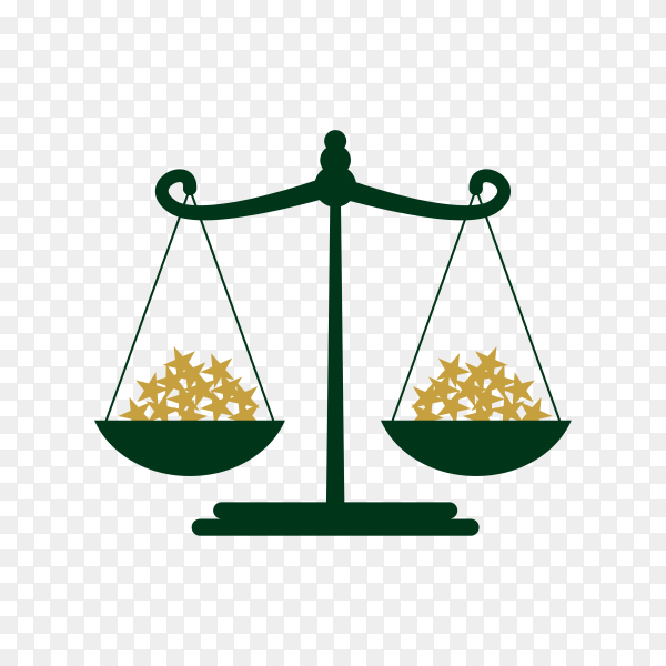 Law and Justice design on transparent background PNG