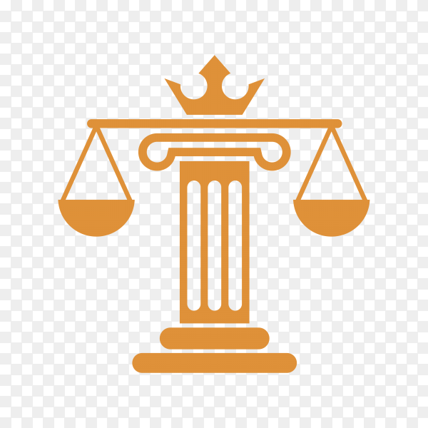 Law and Justice on transparent background PNG