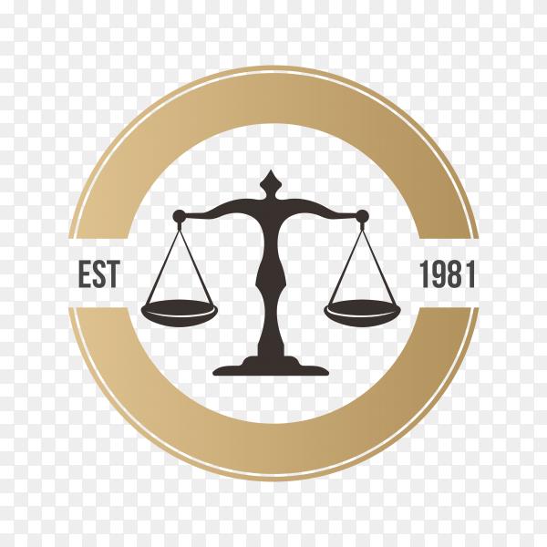 Law firm logo icon design. lawyer logo design premium vector PNG