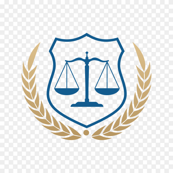 Law firm logo icon design. lawyer logo design with flat design on transparent background PNG