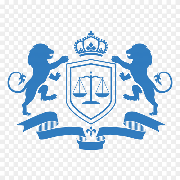 Law firm logo icon design. lawyer logo design isolated on transparent background PNG