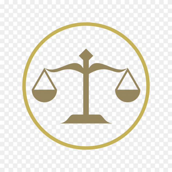 Law firm office logo stock design isolated on transparent background PNG