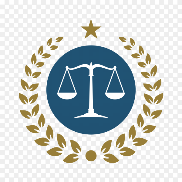 Law firm simple logo stock design on transparent background PNG