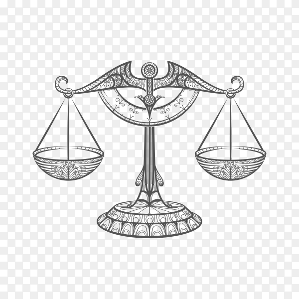 Law logo design isolated on transparent background PNG