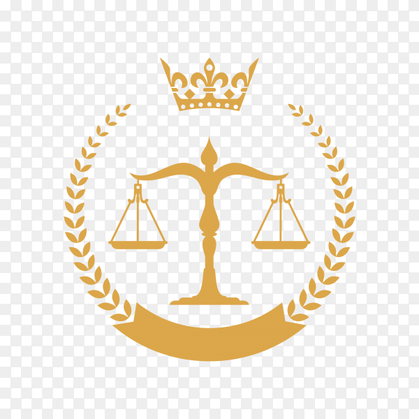 Lawyer and Law Firm Logo on transparent background PNG