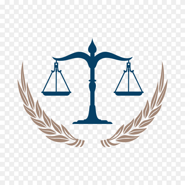 Lawyer and Law Firm Logo template on transparent background PNG