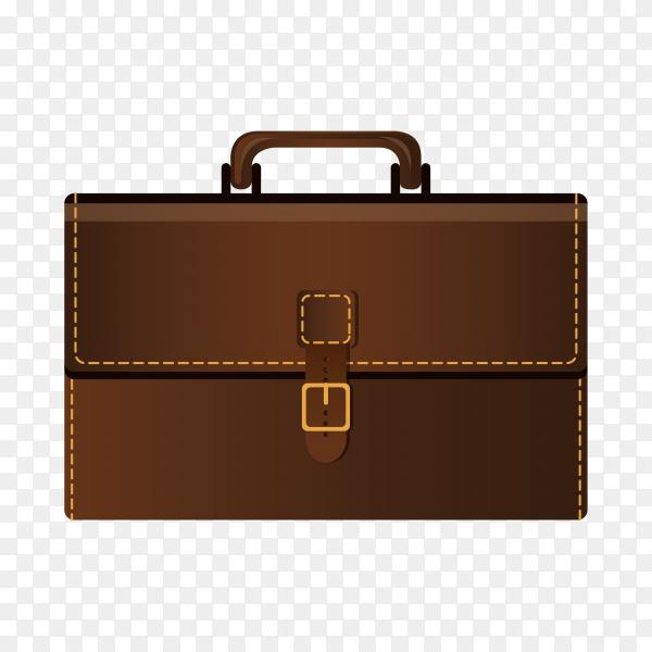 Lawyer leather bag on transparent background PNG