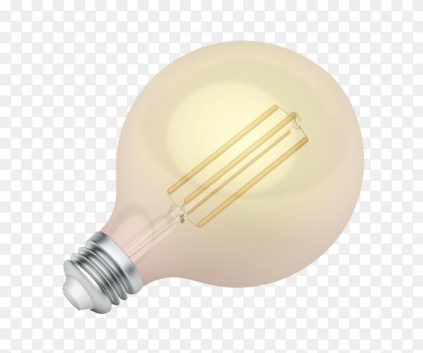 Led bulb on transparent background PNG