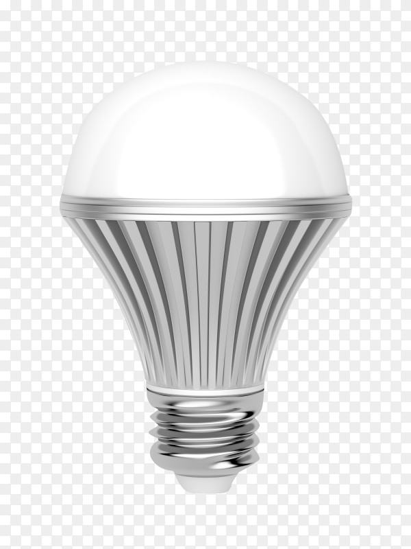Light bulb with light-emitting diode technology isolated on transparent background PNG