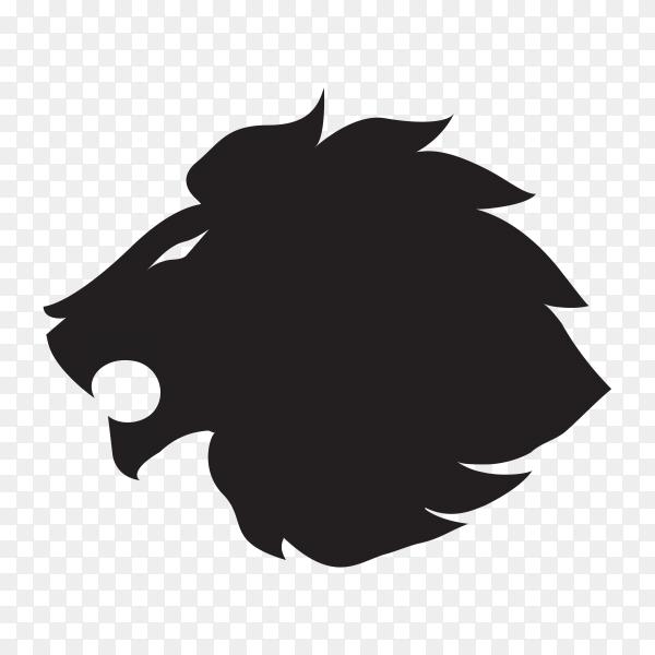 Lion logo template on transparent background PNG