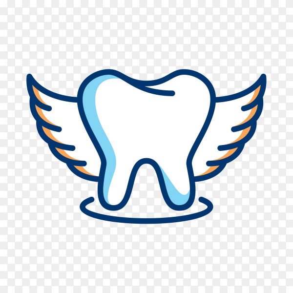 Logo of tooth isolated on transparent background PNG.png