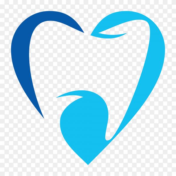 Logo tooth dental isolated design on transparent PNG.png