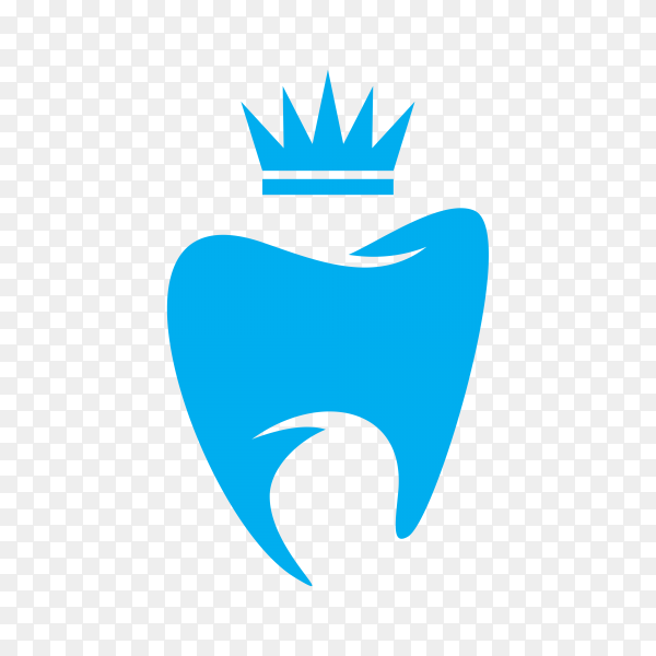 Logo tooth dental isolated design premium vector PNG.png
