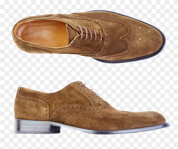 Mans shoes isolated on transparent background PNG