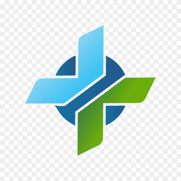 Medical health-care logo design template premium vector PNG
