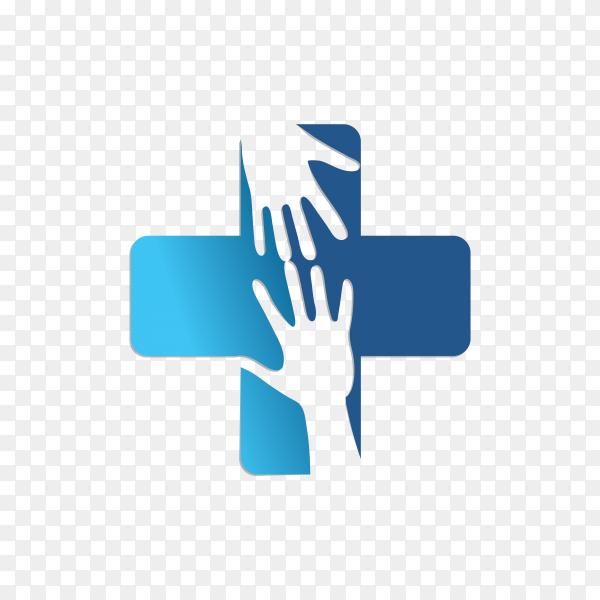 Medical logo template on transparent background PNG