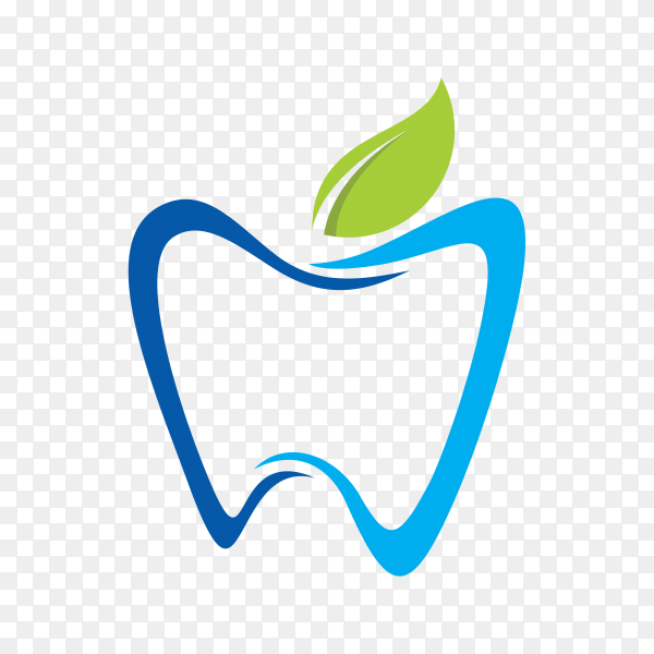 Modern and simple logo for dental clinic on transparent PNG.png