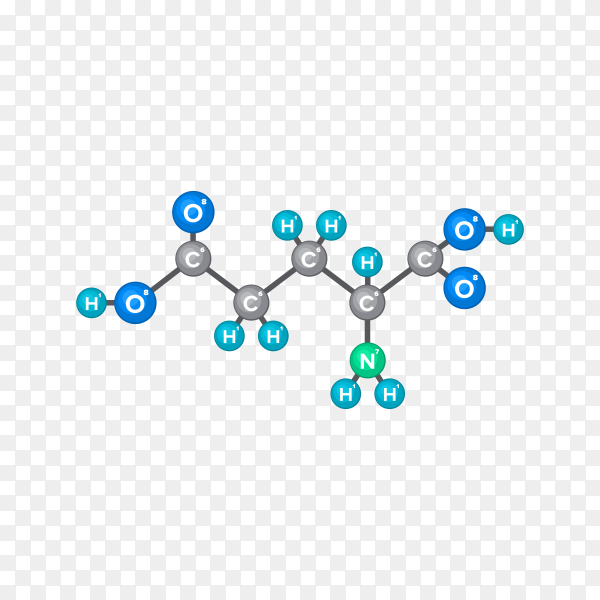 Molecular structure of chemical substance isolated on transparent background PNG