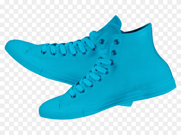 Pair of new sneakers on transparent background PNG
