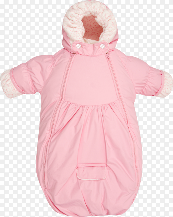 Pink Baby snowsuit Coat bag on transparent background PNG