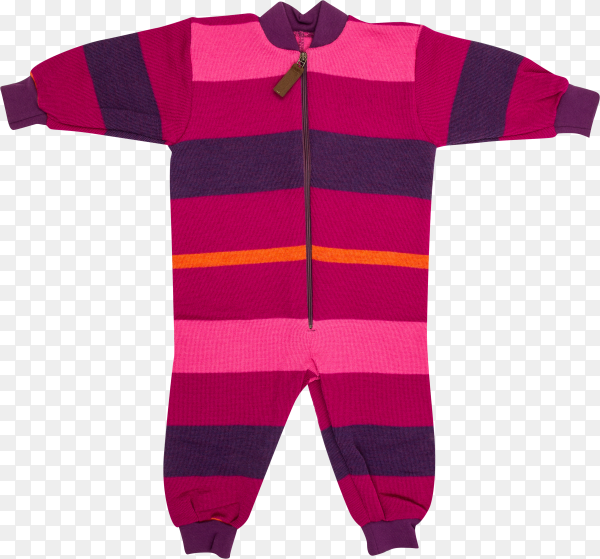 Pink warm sweater with trousers . Baby clothes for winter time