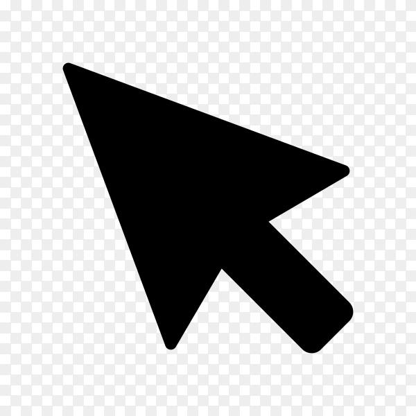 Pointer Arrow Icon Design Template. Click Sign premium vector PNG