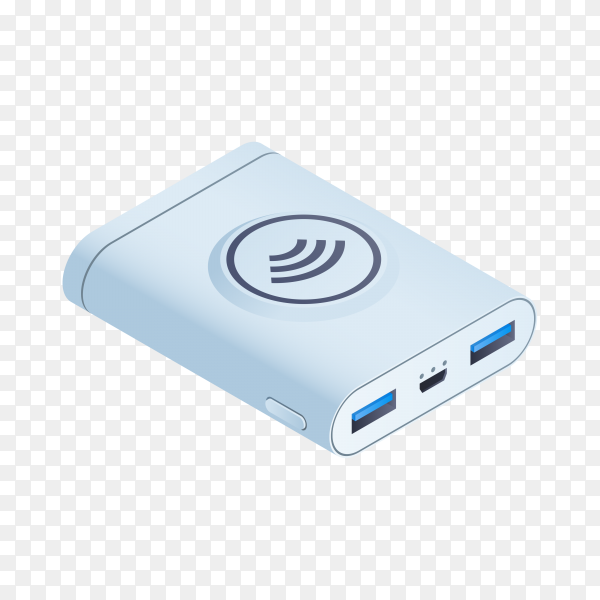 Power bank isolated on transparent background PNG