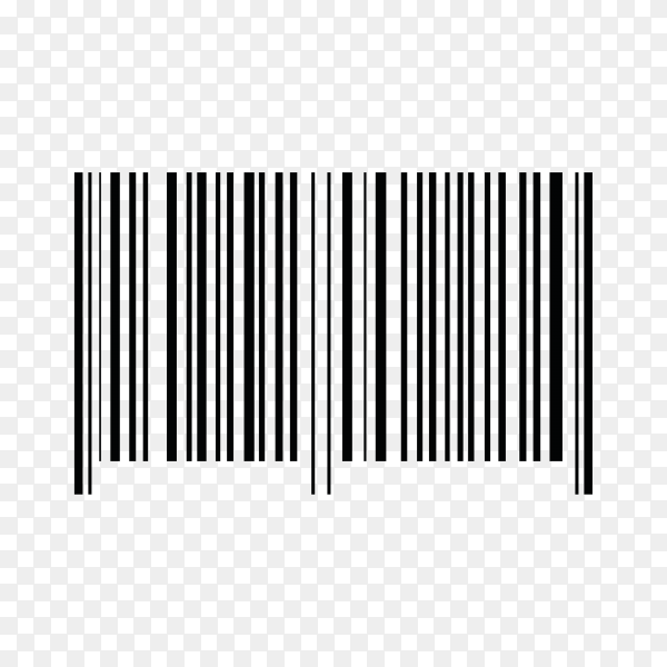 Realistic Barcode Template Icon on transparent background PNG