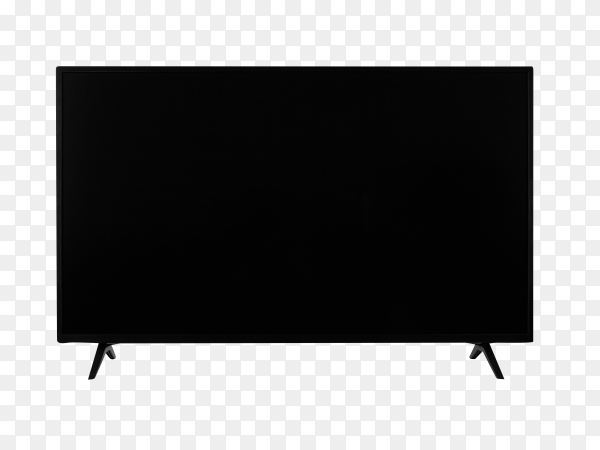 Realistic TV screen. Modern stylish LCD panel, led type on transparent background PNG
