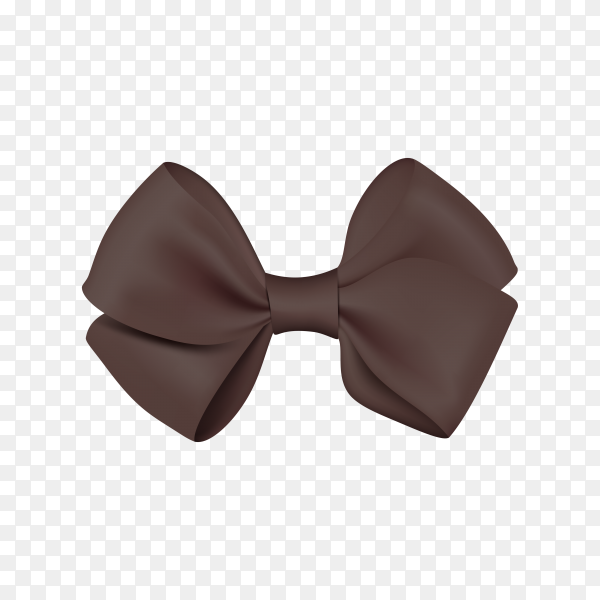 Realistic black bow template for design on transparent background PNG.png
