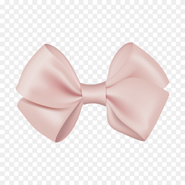 Realistic bow template for design on transparent PNG.png
