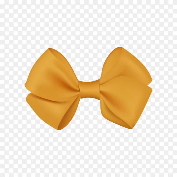 Realistic bow template for design on transparent background PNG.png
