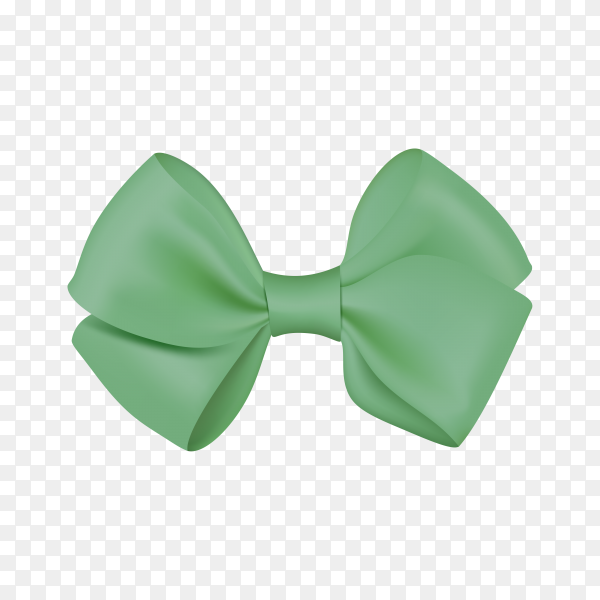 Realistic green bow template for design on transparent background PNG.png