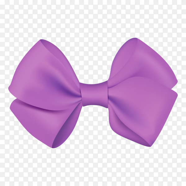 Realistic purple bow template for design on transparent background PNG.png