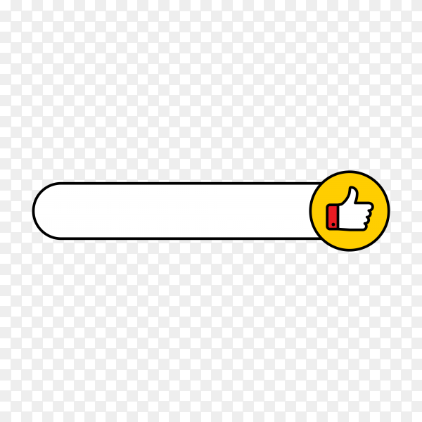 Recommended banner with thumbs up on transparent background PNG