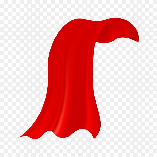 Red Cloak illustration premium vector PNG