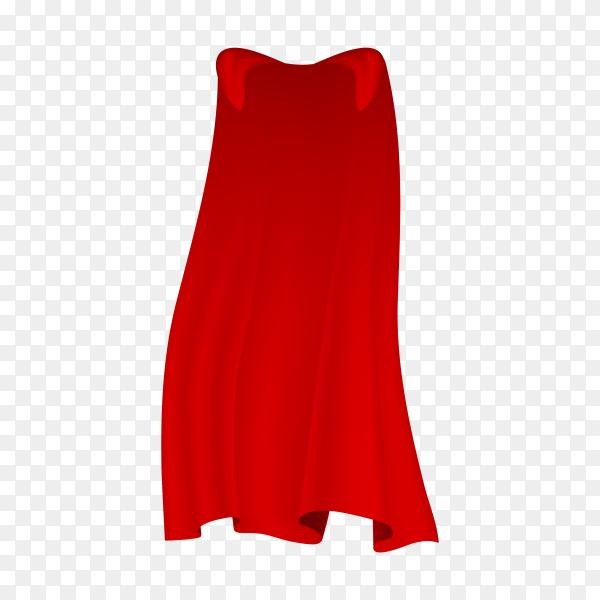 Red Cloak on transparent background PNG