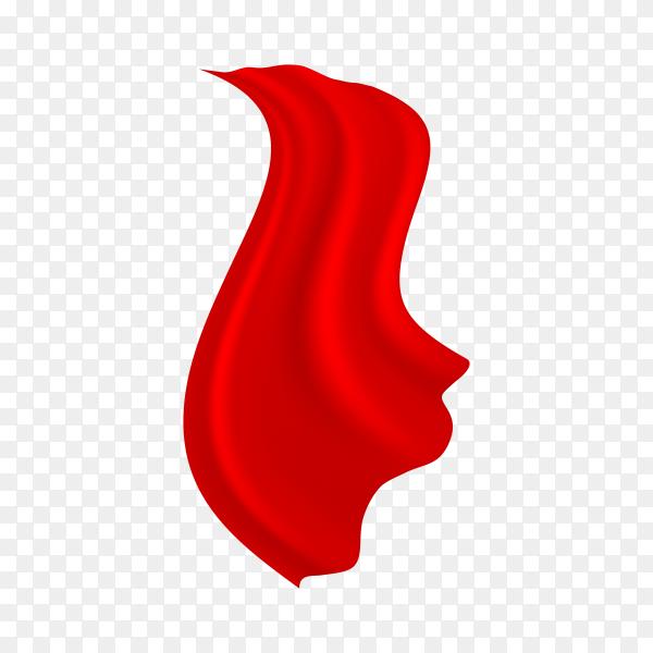 Red Cloak premium vector PNG