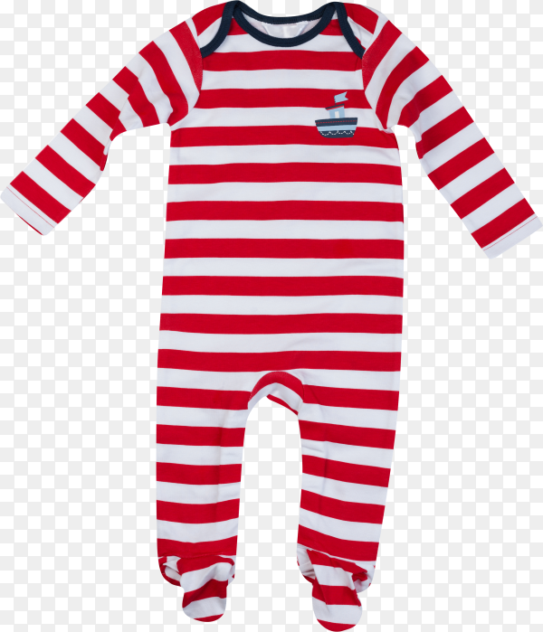 Red and white Baby clothes isolated on transparent background PNG