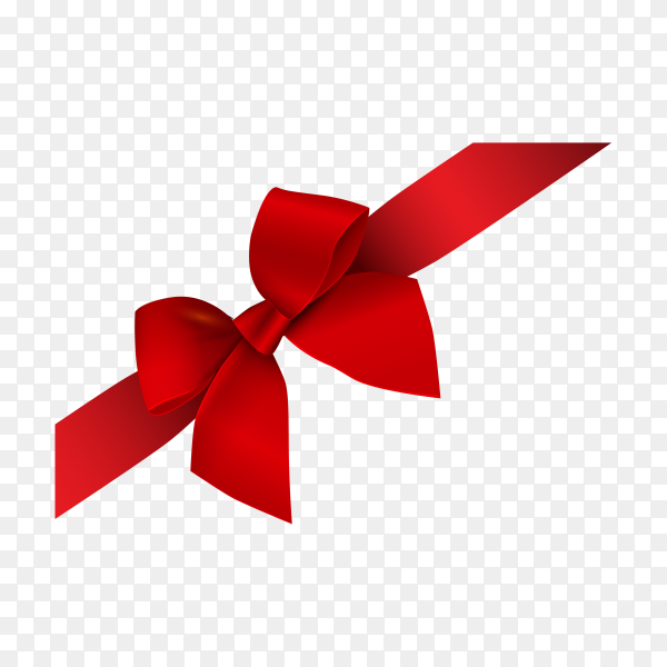 Red ribbon bow premium vector PNG.png