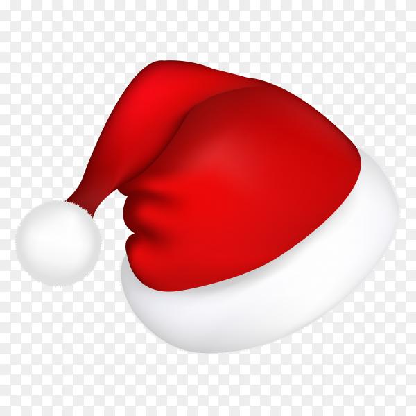 Red santa hat on transparent background PNG.png