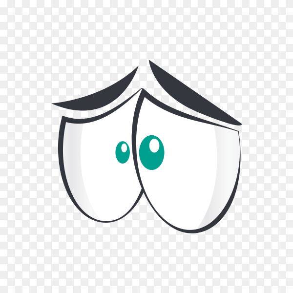 Sad eye emoji on transparent background PNG