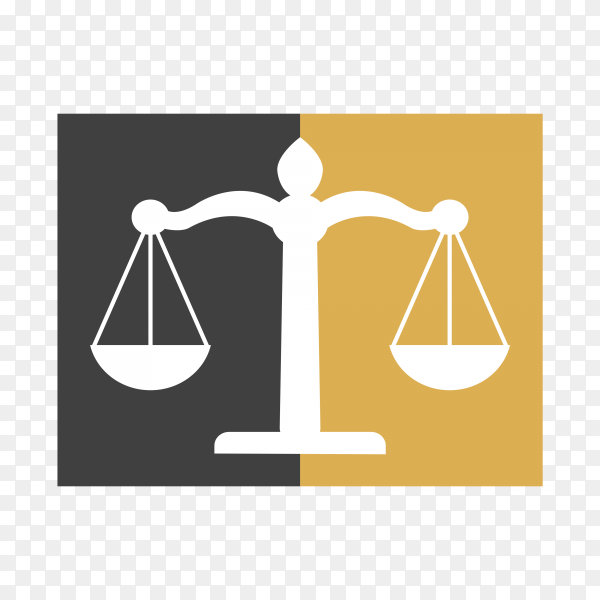 Scale of justice logo design template. justice law and attorney logo design template on transparent PNG