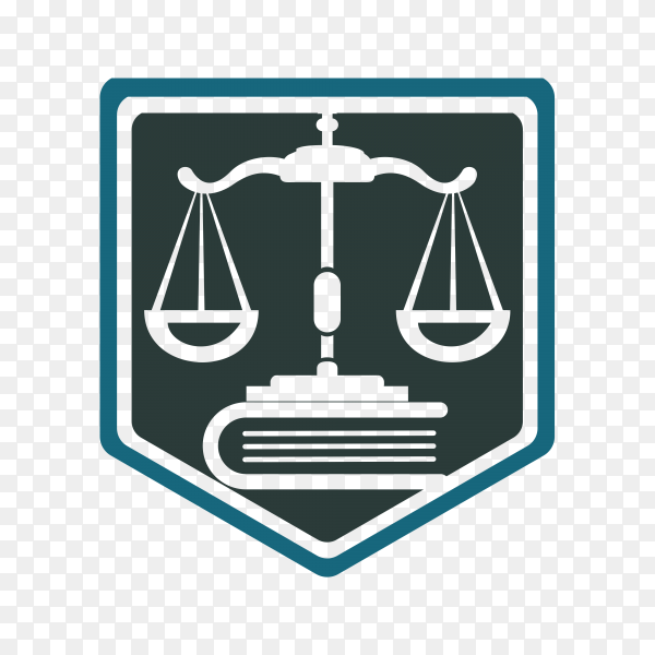 Scale of justice logo design template. justice law and attorney logo design template on transparent background PNG