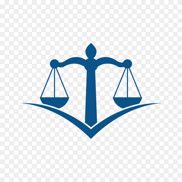 Scale of justice logo design template. justice law and attorney logo design template premium vector PNG