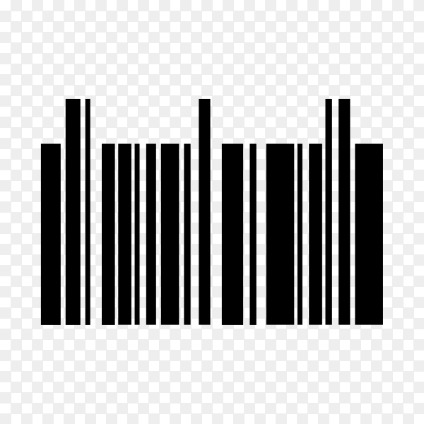 Several barcode for various product on transparent background PNG